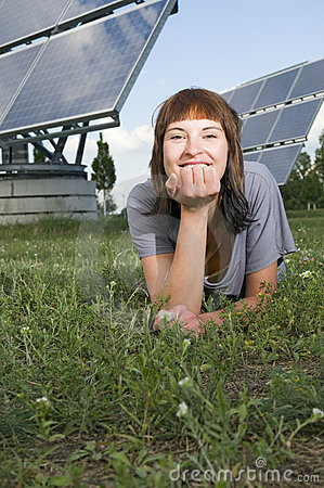Lying by the photovoltaics