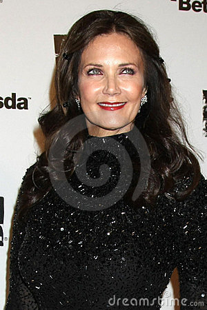 Lynda Carter, raiva Foto Editorial