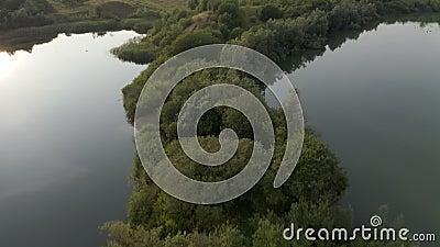 Lynge-Natur und entspannender Park, Dänemark stock video