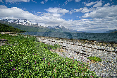 Lyngenfjord coastline