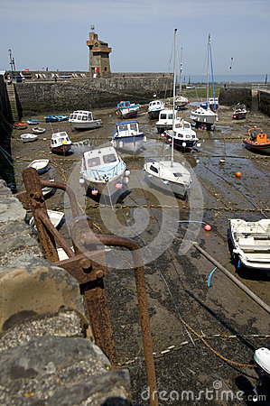 Lynmouth harbour, Devon England Editorial Image