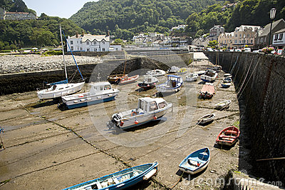 Lynmouth harbour, England Editorial Photo