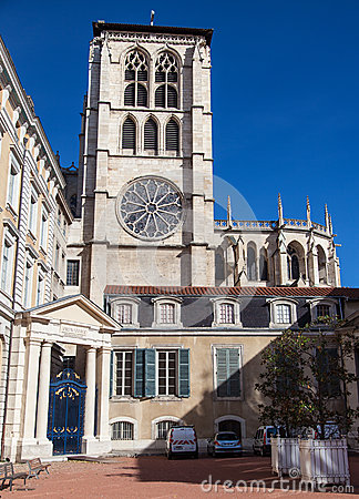 Lyon Cathedral Editorial Photography