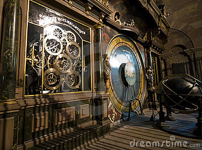 Lyon cathedral clock
