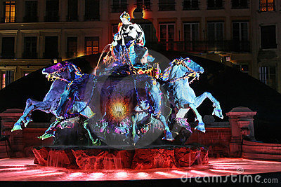 Lyon festival of Lights Editorial Photography
