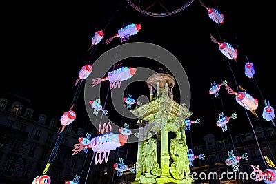 Lyon Festival of Lights 2008 Editorial Stock Photo