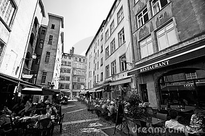Lyon old town Editorial Stock Image