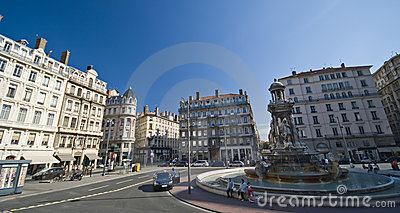 Lyon old town square Editorial Stock Photo