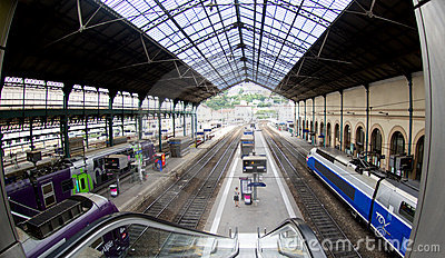 Lyon rail station Editorial Stock Image
