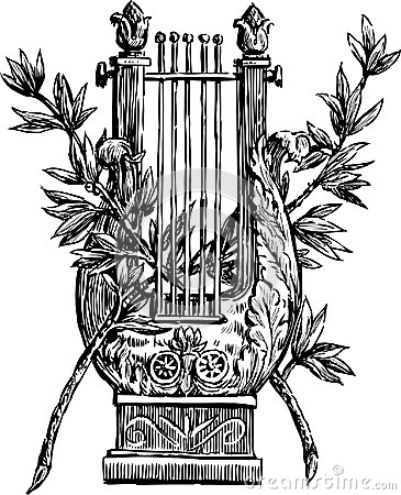 Lyre with a branches