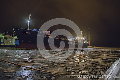 Lysbris moored to the quay Editorial Photography