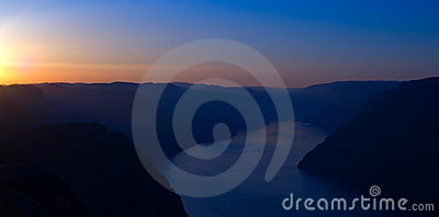 The Lysefjord at Sunrise