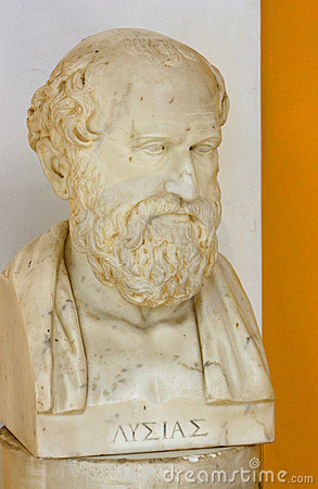 Lysias bust Editorial Stock Photo