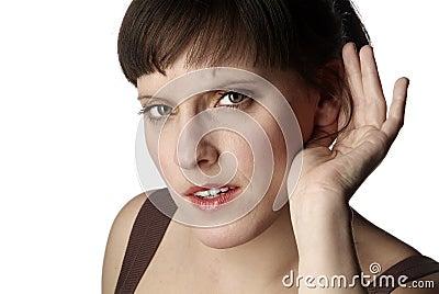 Lyssnande kvinna