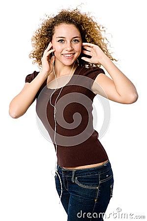 Lyssnande musik till