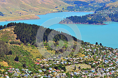 Lyttelton christchurch new zealand stock photo image for Landscape design company christchurch