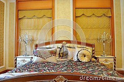 Lyxig lokalstil för sängkläder