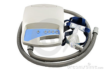 Máquina de CPAP con el camino de recortes