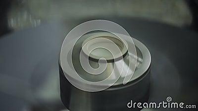 Máquina do algodão doce processo de manufatura do algodão doce video estoque