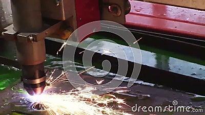 Máquina industrial del plasma metrajes