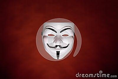 Máscara anónima (máscara de Fawkes do indivíduo) Imagem Editorial