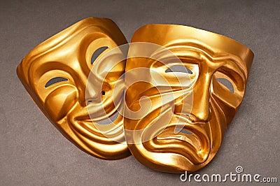 Máscaras com o conceito do teatro
