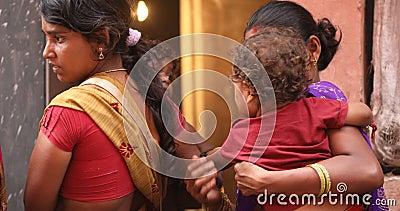 Mãe e Criança Hyderabad Índia video estoque
