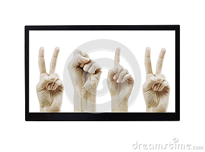 Mãos 2012 no monitor