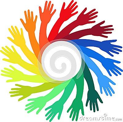 Mãos coloridas