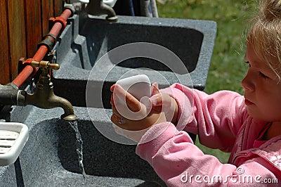 Mãos da lavagem!