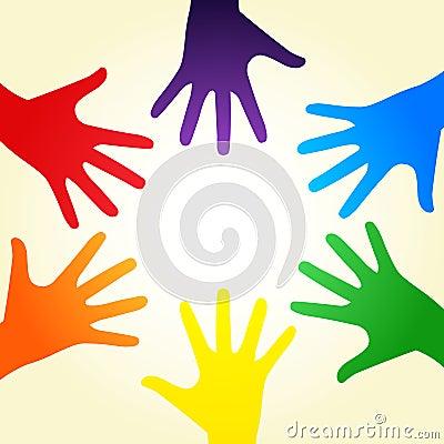 Mãos do arco-íris