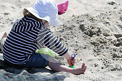 Mädchen auf dem Strand
