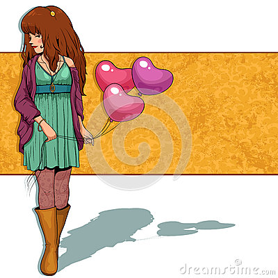Mädchen mit Ballonen