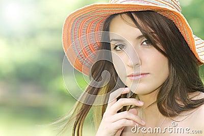 Mädchen-Sommer