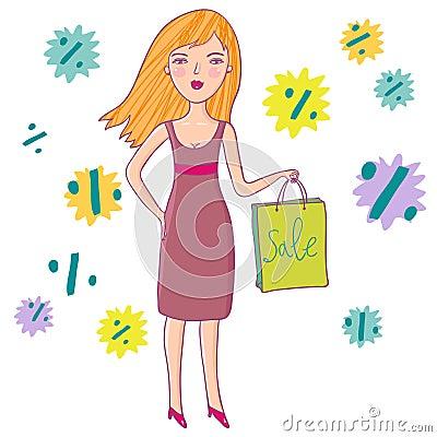 Mädchenliebeseinkaufen