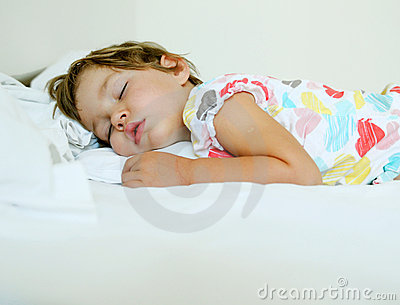 Mädchenschlafen