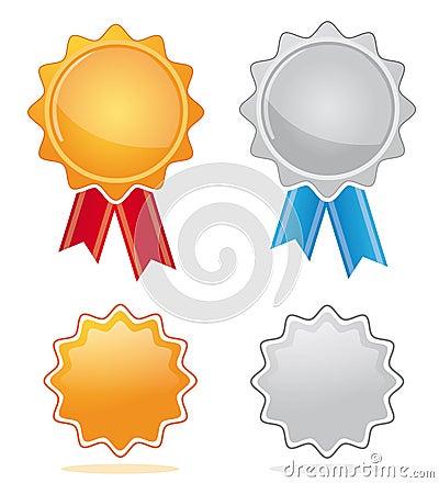 Médailles de récompense d or et d argent