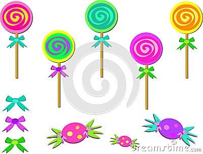 Mélange des sucreries et des proues