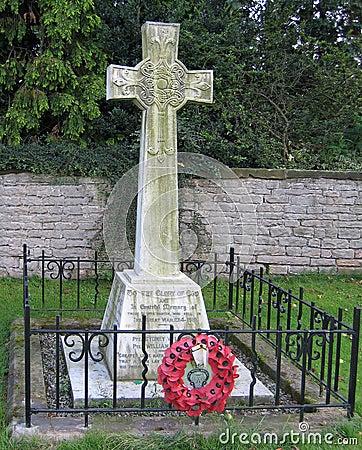 Mémorial de WWI avec des pavots