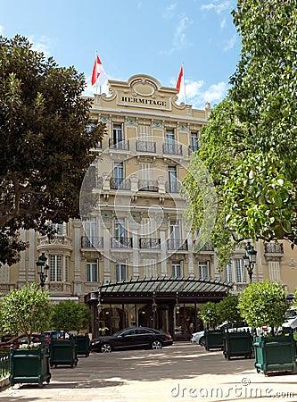 Mónaco - ermita del hotel Foto de archivo editorial