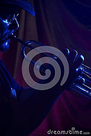 Músico de los azules