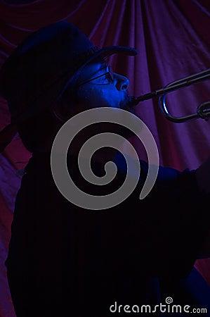 Músico dos azuis