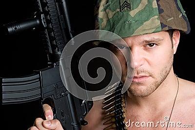Mężczyzna żołnierz