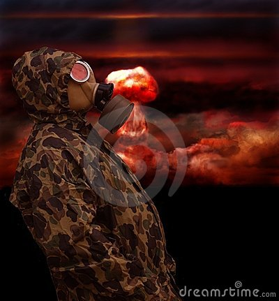 Mężczyzna anta benzynowa maska