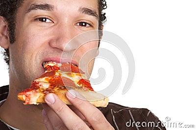 Mężczyzna pizza