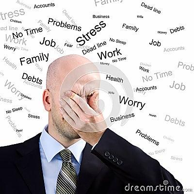 Mężczyzna stres