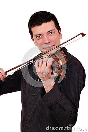 Mężczyzna sztuka skrzypce