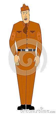 Mężczyzna wojskowy