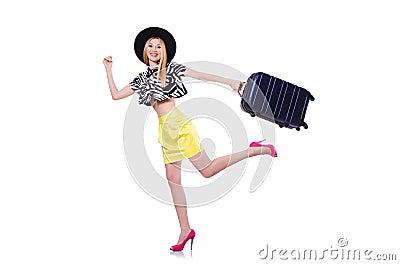 Młoda kobieta z walizką