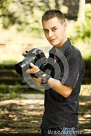 Młody fotograf